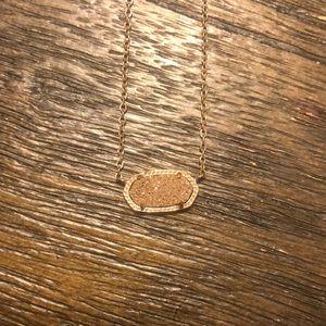 kendra scott rose gold drusy necklace